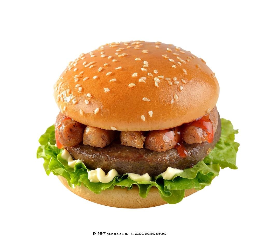 德式烤肠双层牛肉汉堡