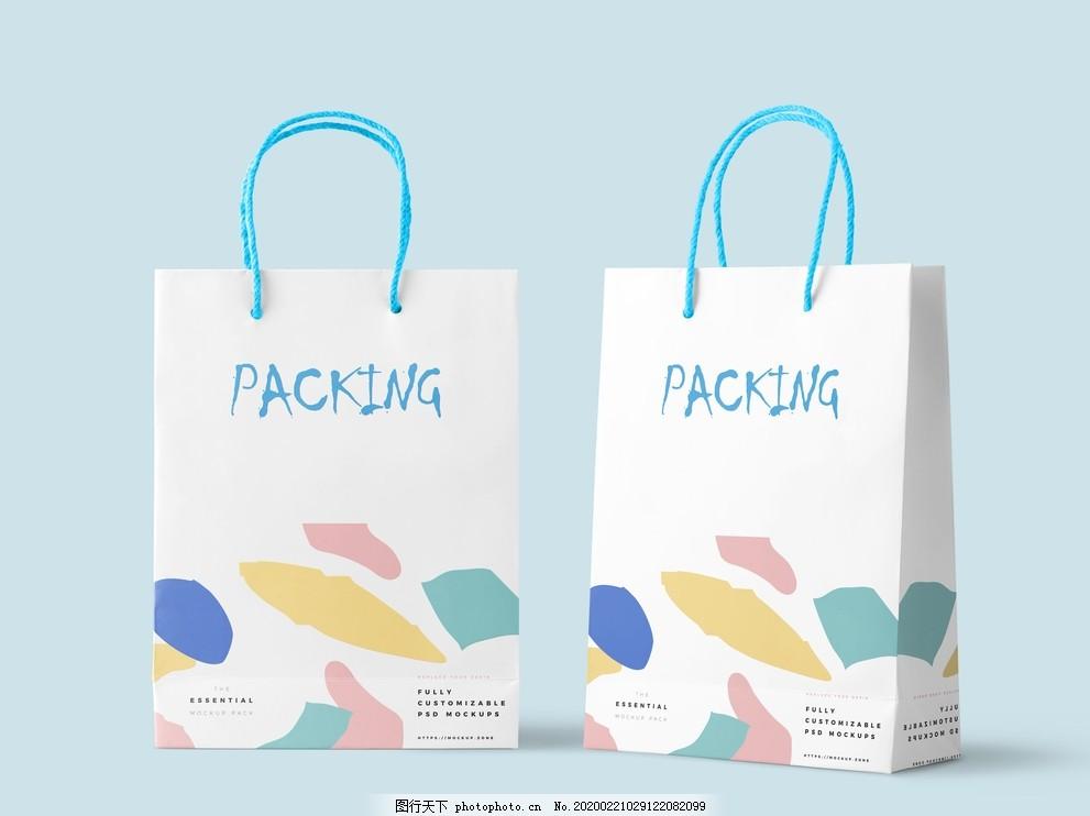 企業手提袋樣機設計效果圖