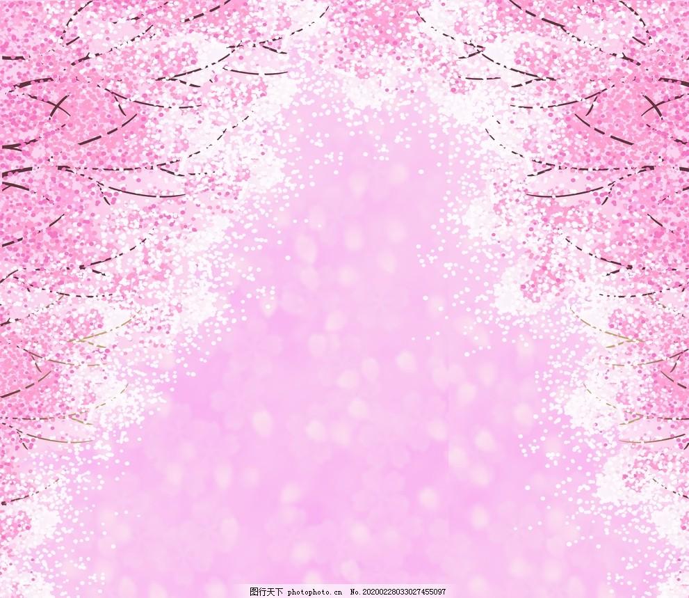 粉色櫻花婚禮背景
