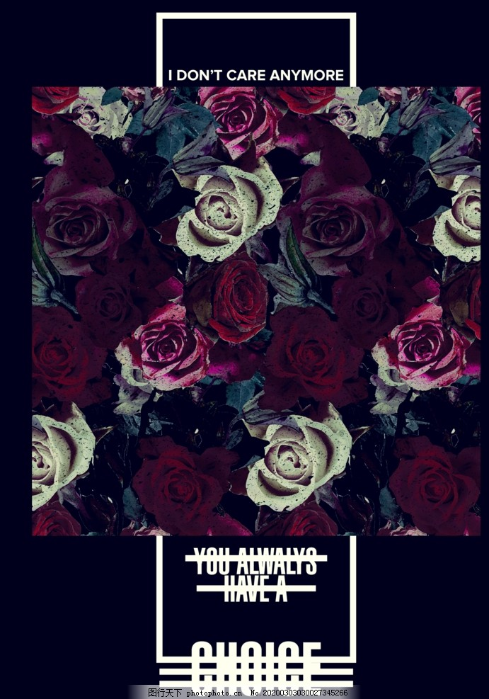 玫瑰花攝影剪切藝術海報