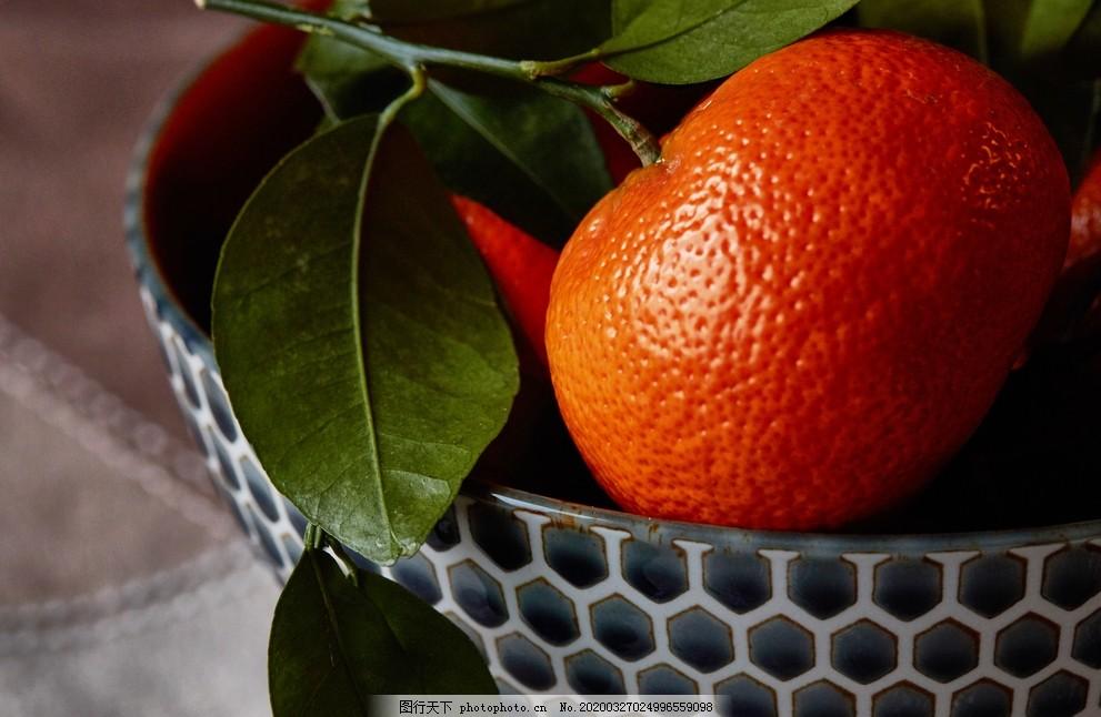 橘子,桔子,水果,静物,叶子,食物,健康